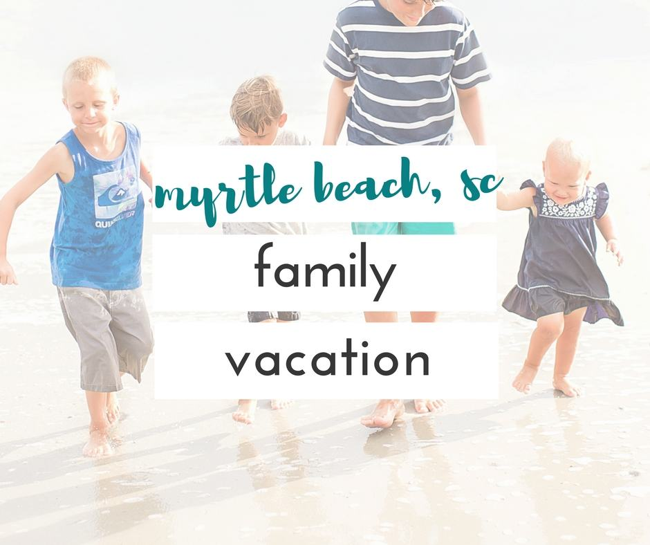 Myrtle Beach, SC is a great place for a family vacation. I was amazed by how much there was to do there!