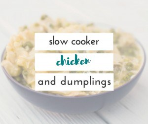This is the easiest recipe for chicken and dumplings, and it's made in the crock pot!
