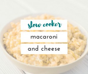 I can't believe I finally found a way to make macaroni and cheese in the slow cooker