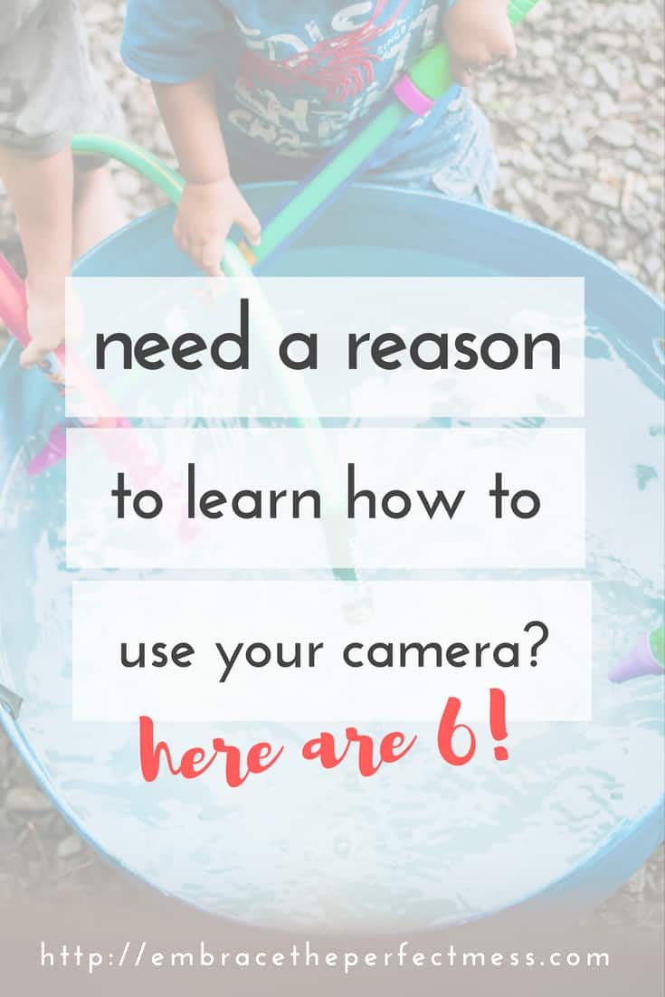 This is so true! Learning how to use my camera was a game changer when it comes to taking pictures of my family!