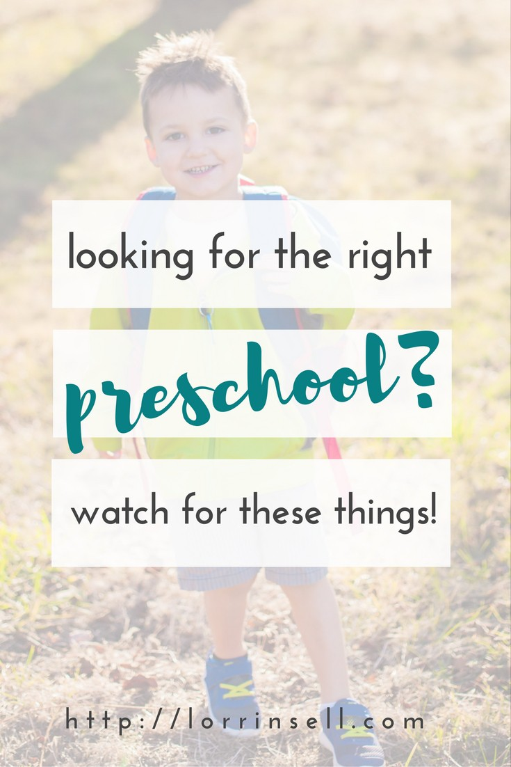 learn what to look for when choosing a preschool for your child.