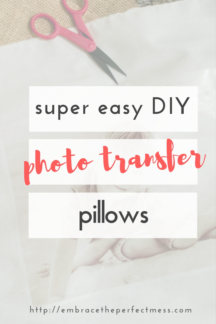 check out this easy tutorial for for diy photo transfer pillows. you won't believe how easy they are to make, you're going to love them!