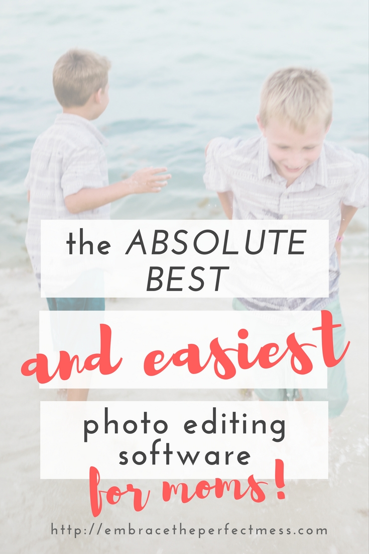 "ever wish there was a way you could make your own pictures go from ""eh"" to ""wow""??!! try this!! this is the best photo editing software for moms"