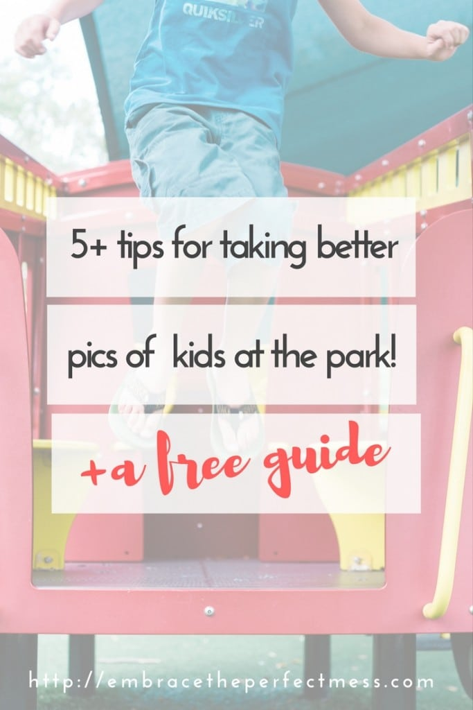 We spend so much time at the playground! I can't wait to try some of these tips. Maybe I will actually start taking better pictures at the playground!