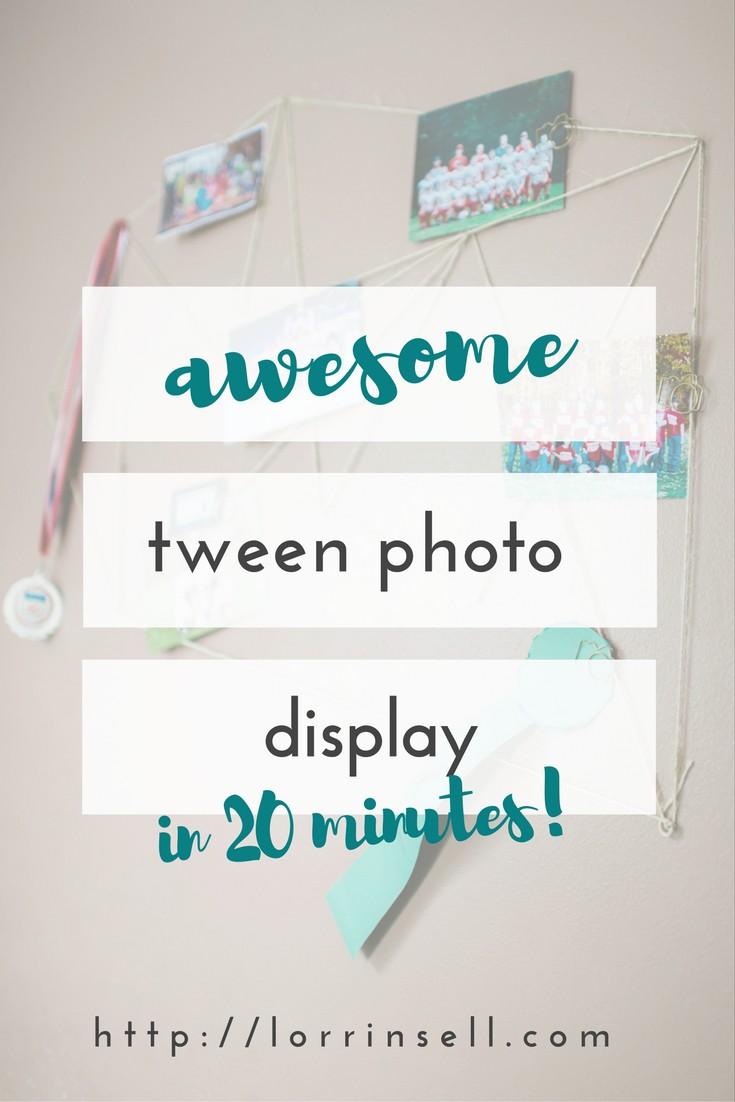 This is the best display for pictures in my tween's room. I love thisso much more than a bulletin board,