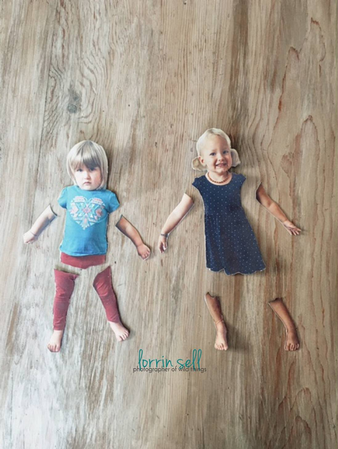 These DIY paper dolls were so easy to make, and the girls LOVE the fact that they have dolls that look JUST like them! I love an easy photo craft