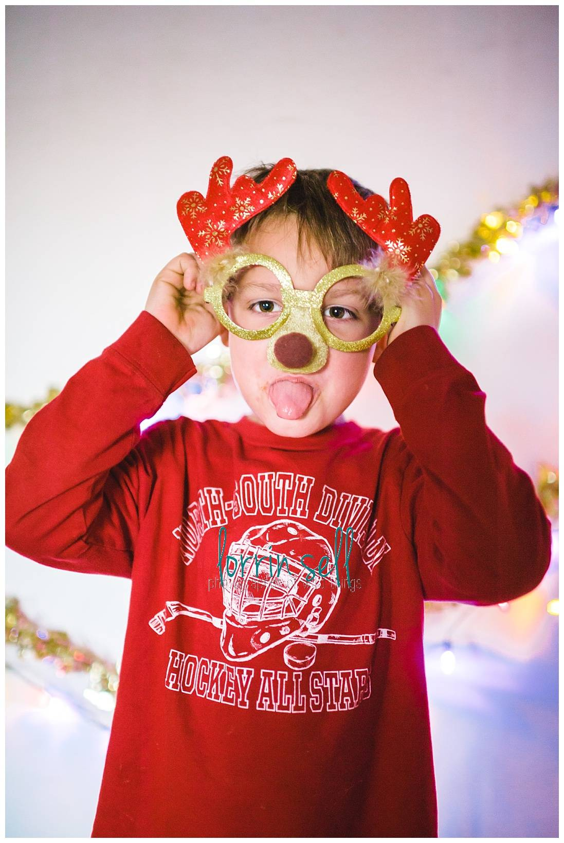 Photo booths are so much fun! You can easily make your own and add even more fun to your Christmas party!