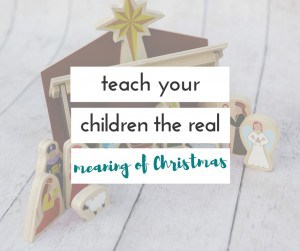 Looking for a fun way to teach your children the meaning of Christmas? This is such a beautiful nativity set, and it is perfect for reminding the kids everyday the real meaning of Christmas