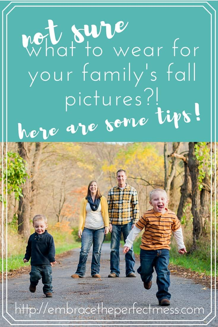 Deciding what to wear for fall family pictures, is no easy task.  These are some great ideas to make it less difficult.