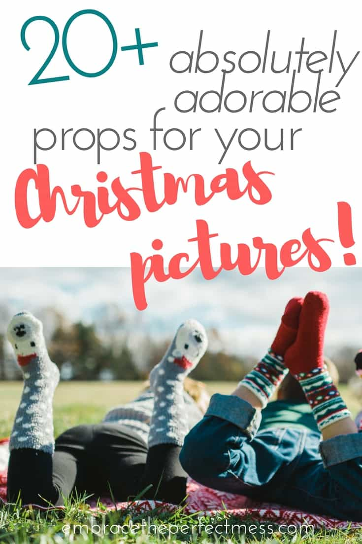 If you haven't already taken Christmas pictures yet,  you've gotta check out these props.  You Christmas cards will be so much more fun! #Christmaspictures #Christmascards #Christmasprops