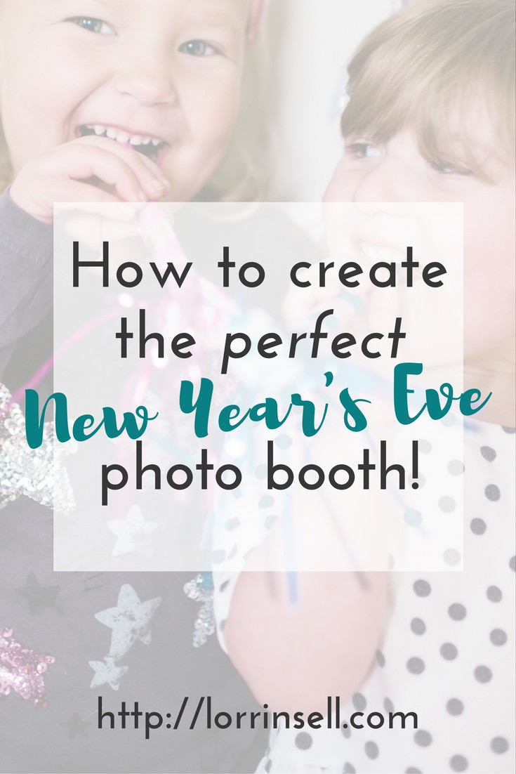 adding a photo booth to the new year's eve party sounds like so much fun!!