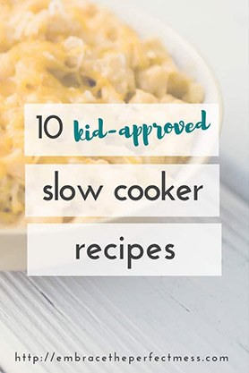 Are you looking for recipes kids will actually like for dinner? these 10 recipes are kid approved, AND made in the crock pot! that makes them perfect recipes for busy moms like me!