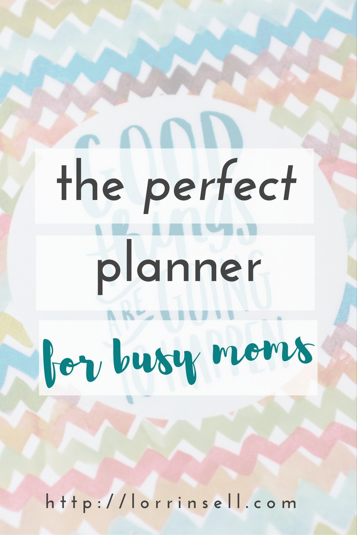 This is the perfect planner for busy moms! I'm so happy I was introduced to it.