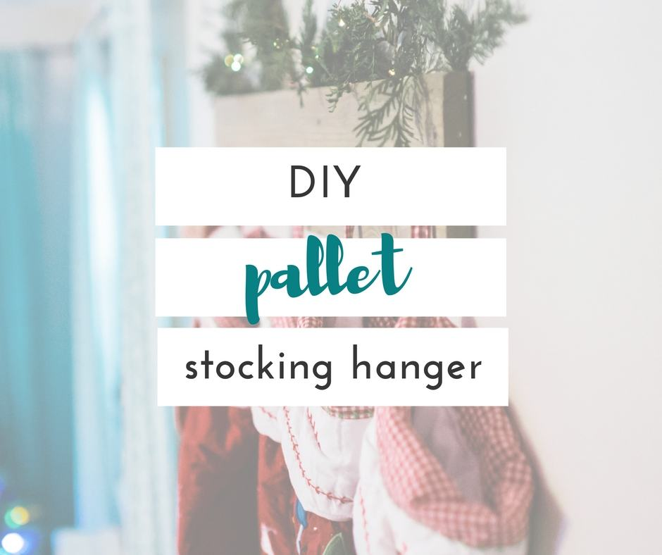 this diy stocking hanger was so easy to make, and i am so happy with how it turned out. it's perfect for anyone that doesn't have a mantle or a staircase.
