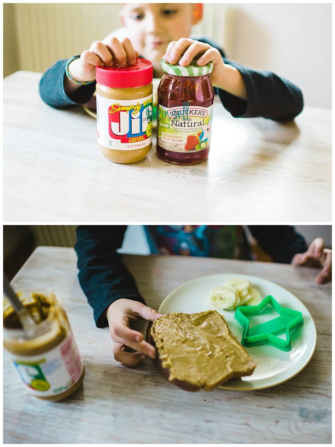 I love that this sandwich is so easy to make, and totally healthy. The kids love that it's a different way to eat peanut butter!