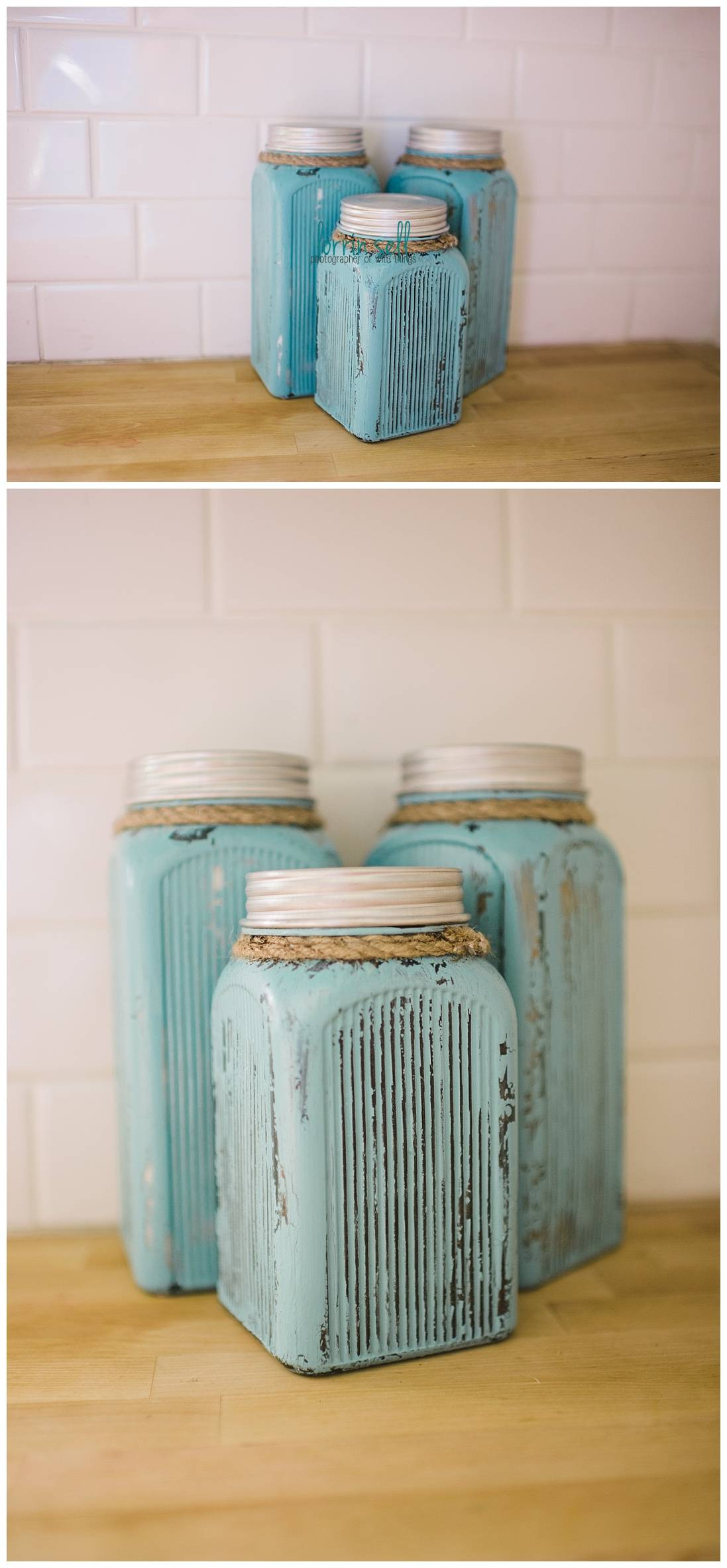 I Am In Love With These Diy Painted Kitchen Canisters And They Were So Easy