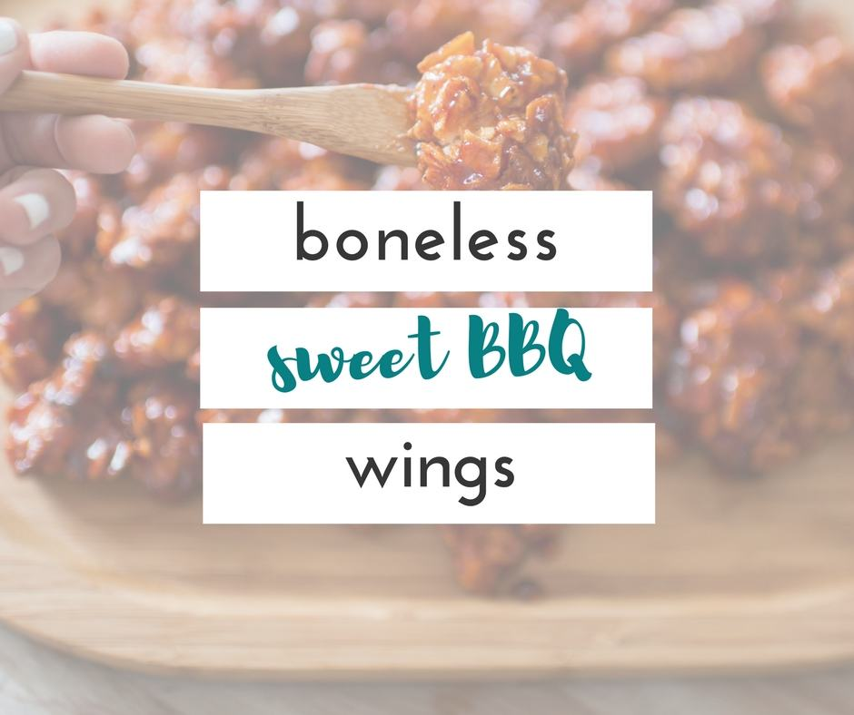 boneless bbq wings, that are baked