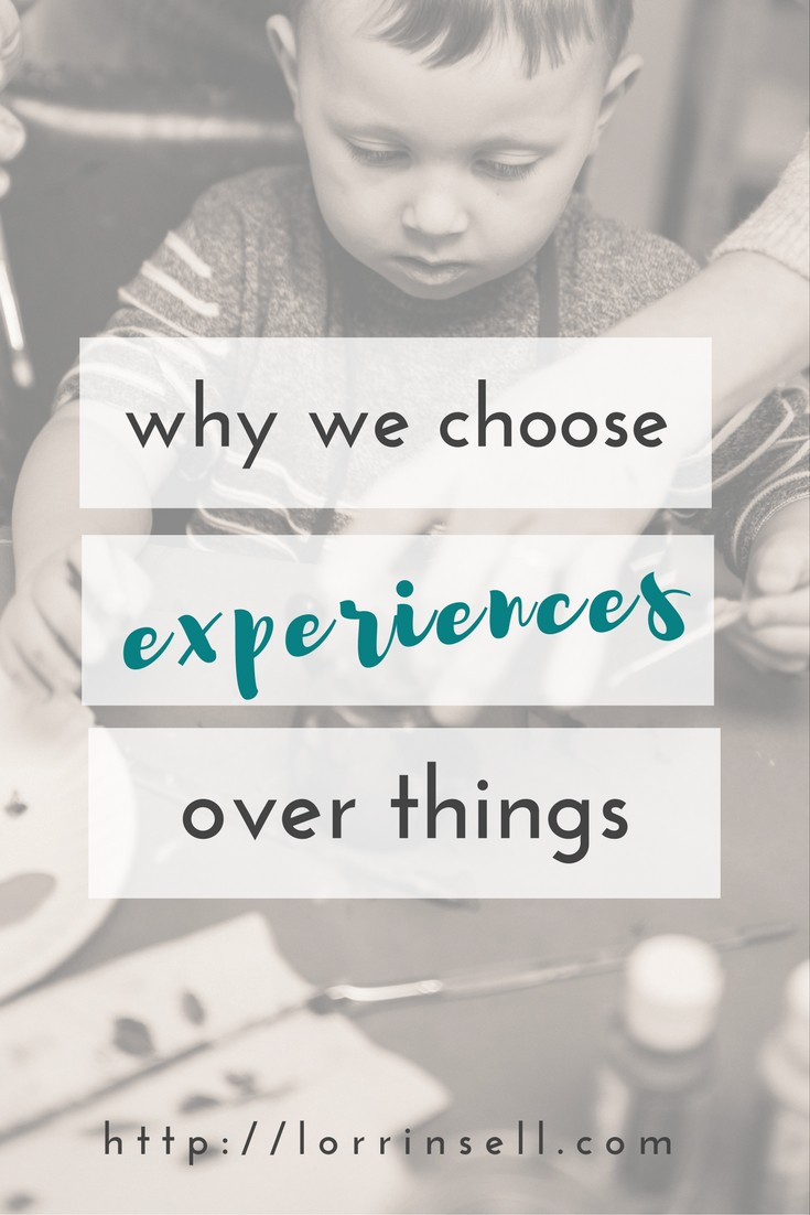 This is so great! Your kids will gain so much more when you choose experiences over things!