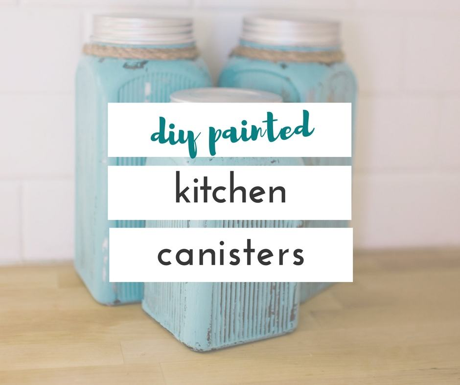 I am in love with these DIY painted kitchen canisters, and they were so easy, and fun to make. It was so nice to be able to pick any color I wanted.