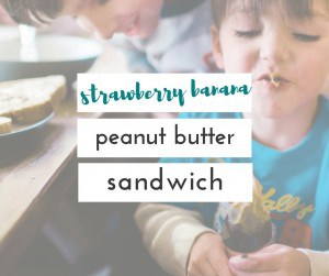 strawberry banana peanut butter sandwich