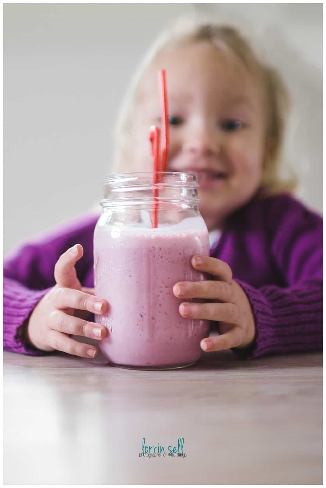 This is seriously the easiest grape smoothie ever, and the kids love it!