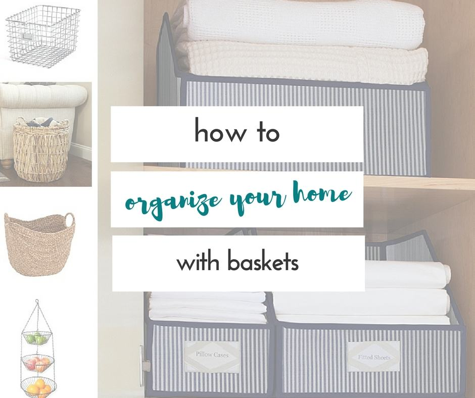 Knowing how to organize with baskets is crucial for our home to stay organized, and not look cluttered. Great ideas here!