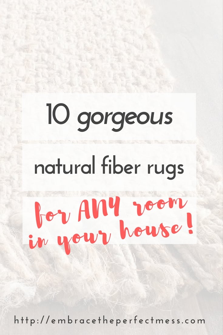 These gorgeous natural fiber rugs are the perfect way to add texture to any room in your home.