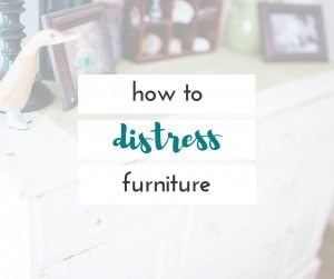I love distressed pieces of furniture, and this is one of the easiest DIY projects you can do!