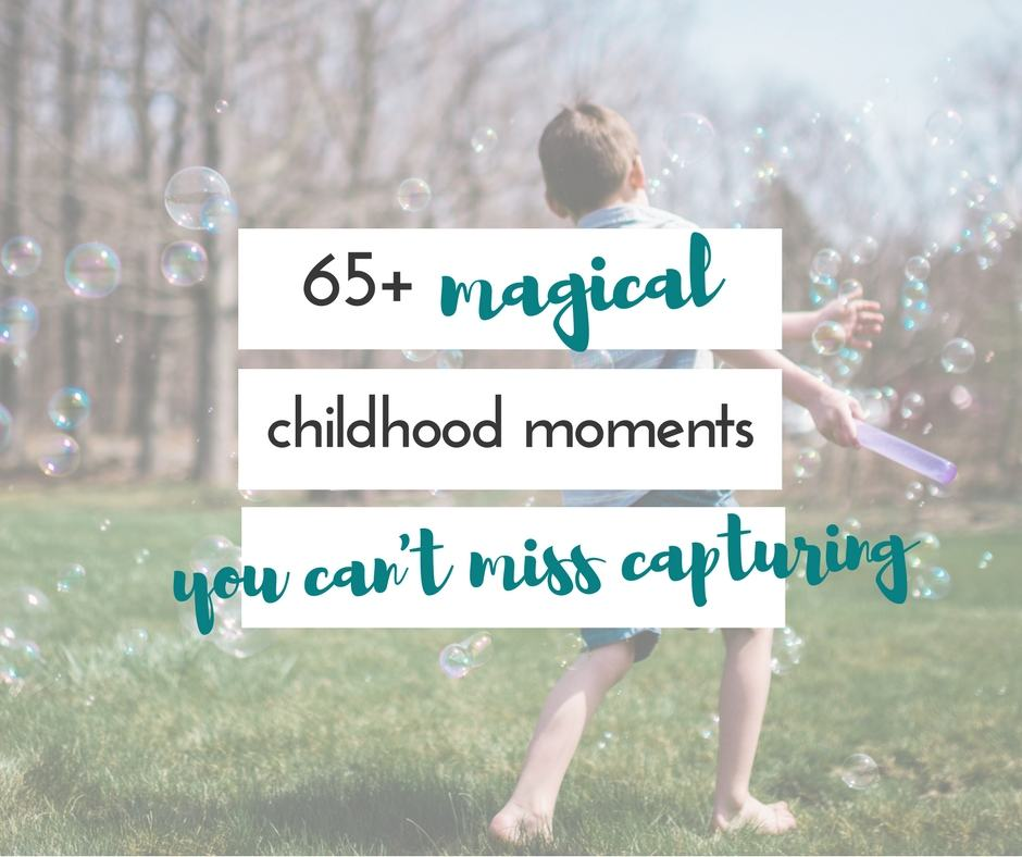 Childhood moments are fleeting, that's for sure! I love these magical moments that remind me of being a kid. Great ideas here!