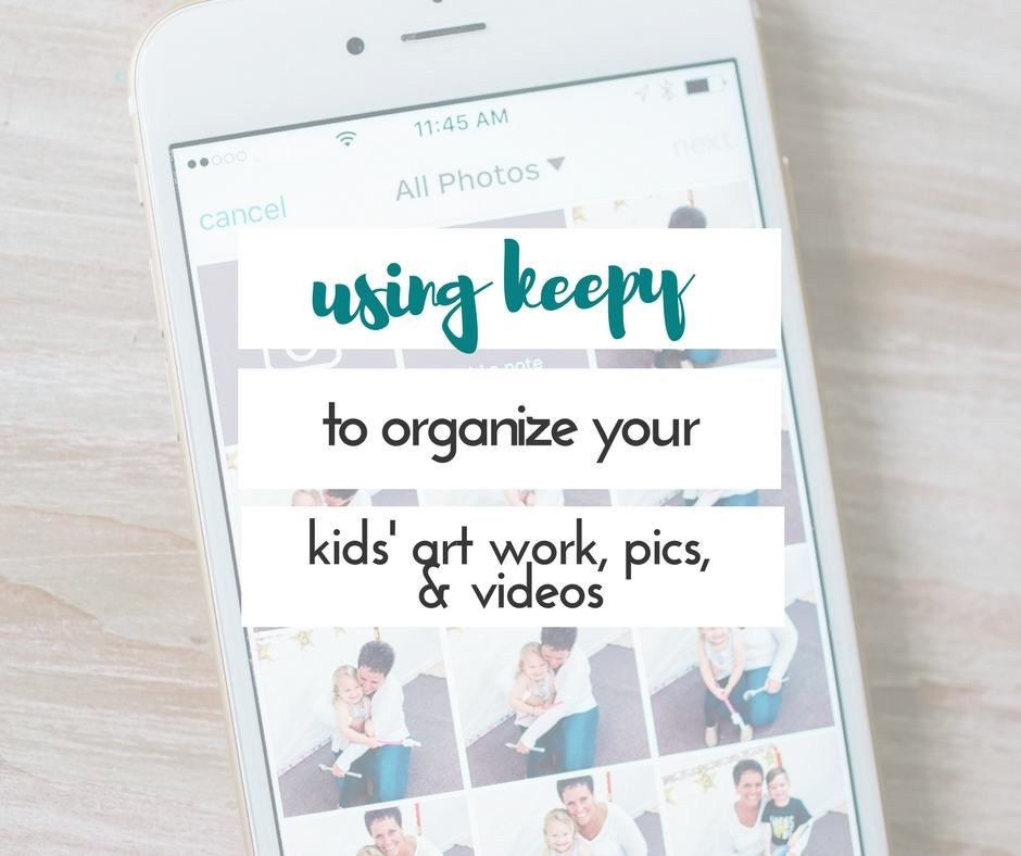 Organizing children's art work, pictures, videos, and more!