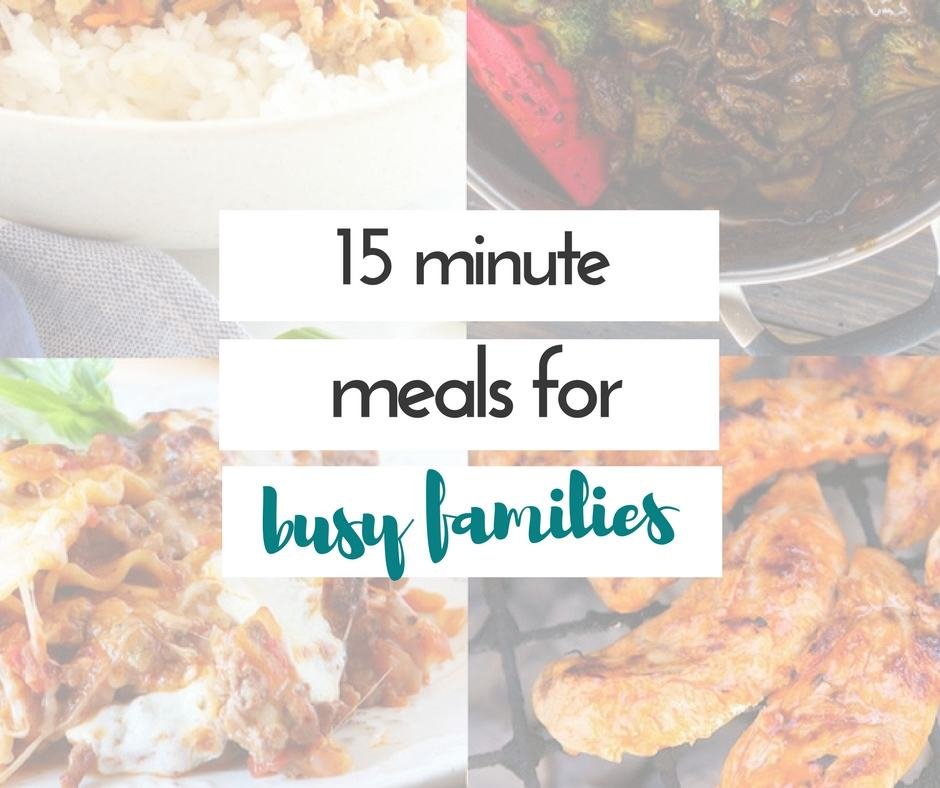 I so needed these ideas for 15 minute meals! We are so busy during the week, and there are so many times we end up getting take out. This is totally going to help with that!