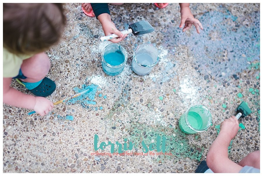 easy diy sidewalk paint