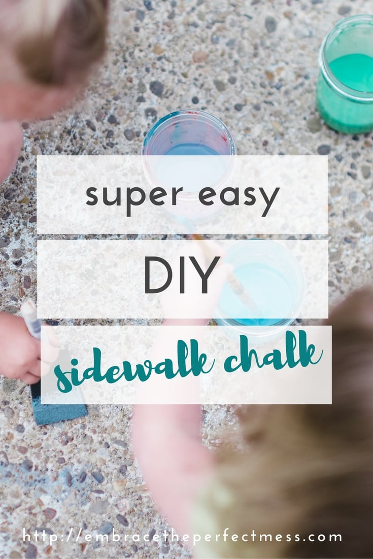 easy diy sidewalk chalk