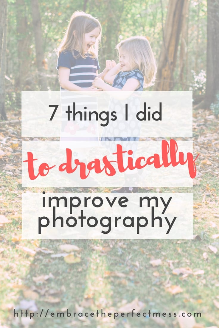 I knew when I started having children I wanted to drastically improve my photography, learn how to take good pictures of your kids, and mine. These are the ways I managed to do just that.