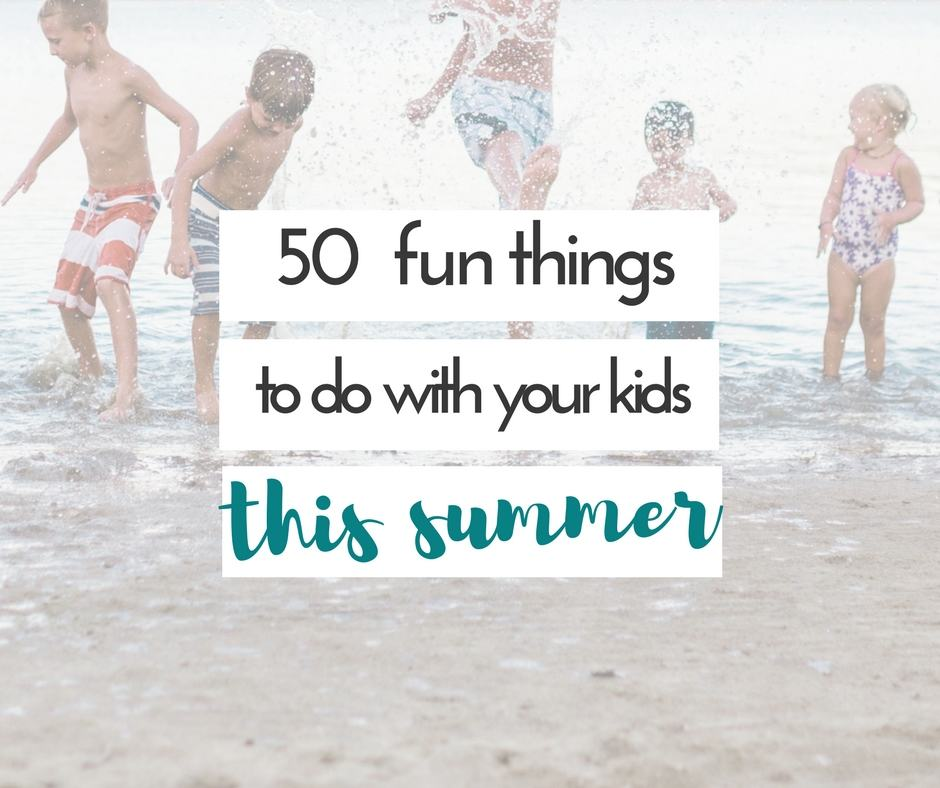 We love checking thing to do with kids in the summer off of a list. these are all great ideas!