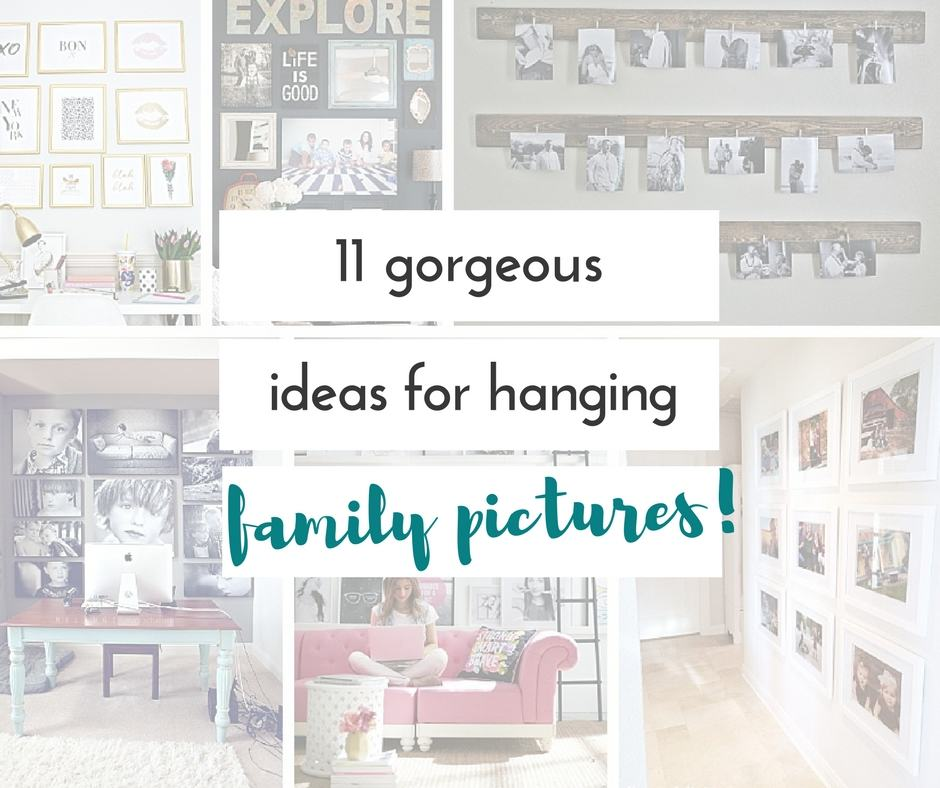 These are such fantastic ideas for hanging family pictures! I love a good family photo gallery wall ideas. I love how it tells your family's story in pictures. It's such a fun way for people to get to know you when they visit your home.