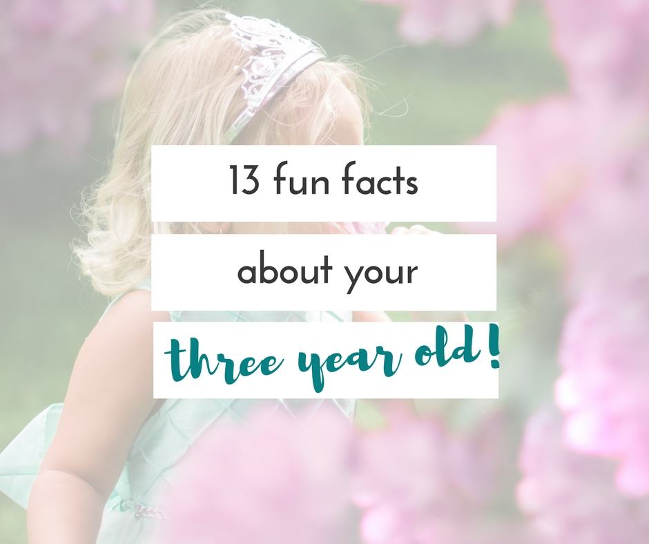 After being in the throes of living with a three year old four times, we have definitely found some facts about 3 year olds.
