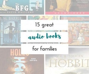 This is a great alternative to video games on a road trip. I love this list of audio books for families!