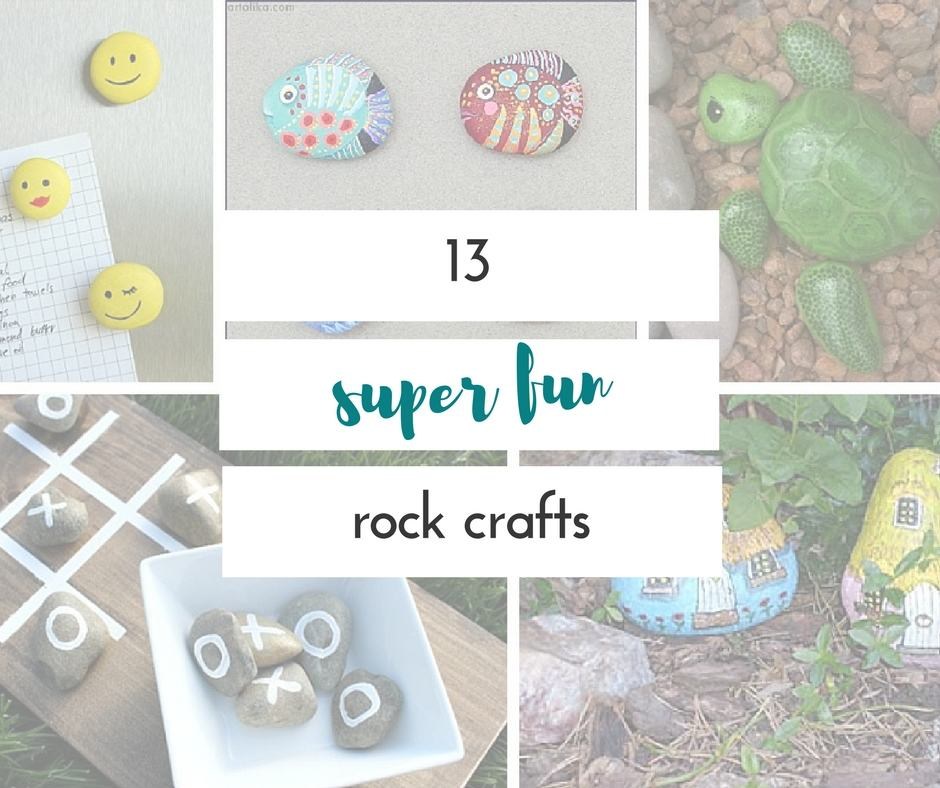 These fun rock crafts are so easy, and definitely a quick idea for something to do with your kids.