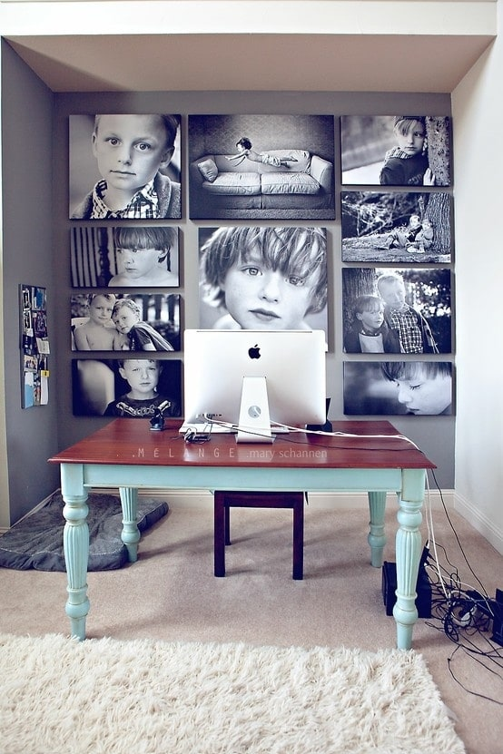 I love a good family photo gallery wall ideas. I love how it tells your family's story in pictures. It's such a fun way for people to get to know you when they visit your home.