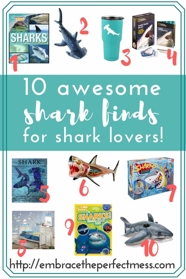 Sharks are absolutely fascinating to me, and so many others. These awesome shark finds for shark week will have you wishing you can have one of everything!
