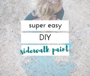 I love this easy DIY sidewalk paint, and so did the kids!
