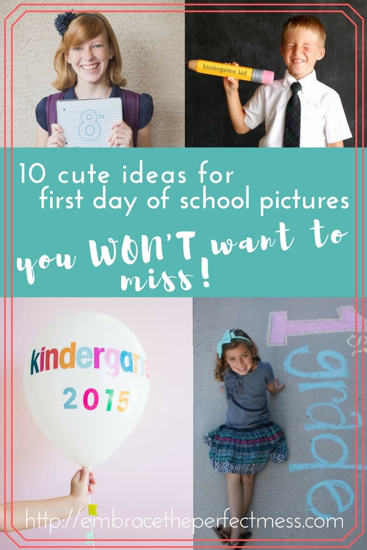 These are the cutest ideas for first day of school pictures! I can't believe we are already thinking about back to school photos. Seems like summer just started!