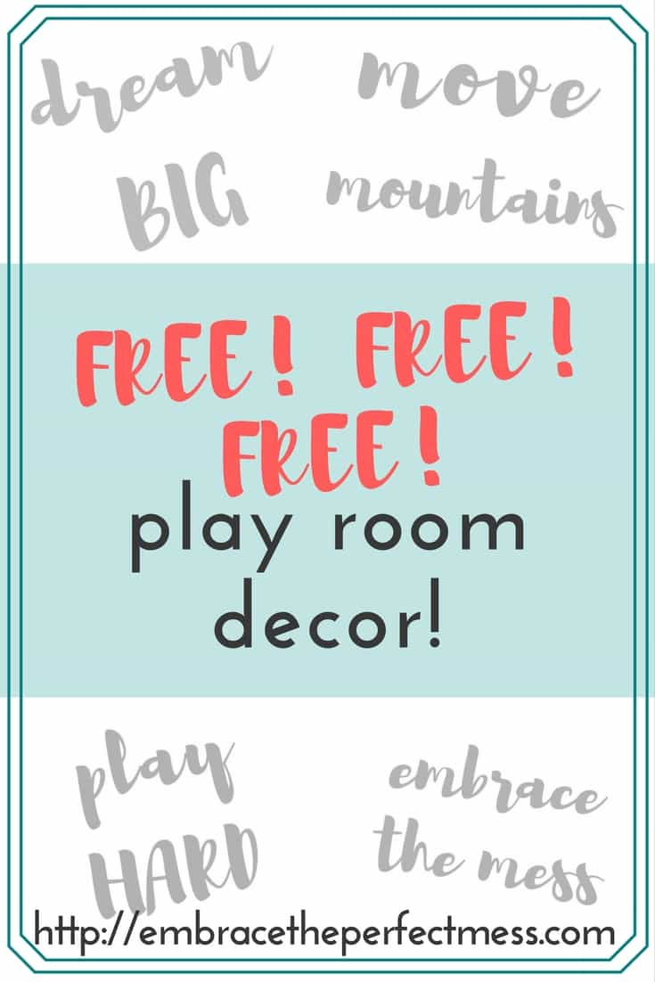 I love these free play room printables. They make decorating with kids so easy, and stylish!! PLUS- They're FREE!
