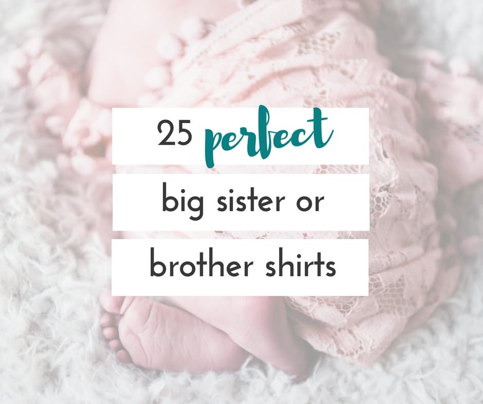 These big brother announcement shirts and big sister announcement shirts are the perfect way to announce a new baby in the family, or a sweet gift for big bro and sis when the baby arrives!