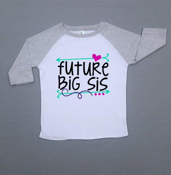 These big brother and sister shirts are the perfect way to announce a new baby in the family, or a sweet gift for big bro and sis when the baby arrives!