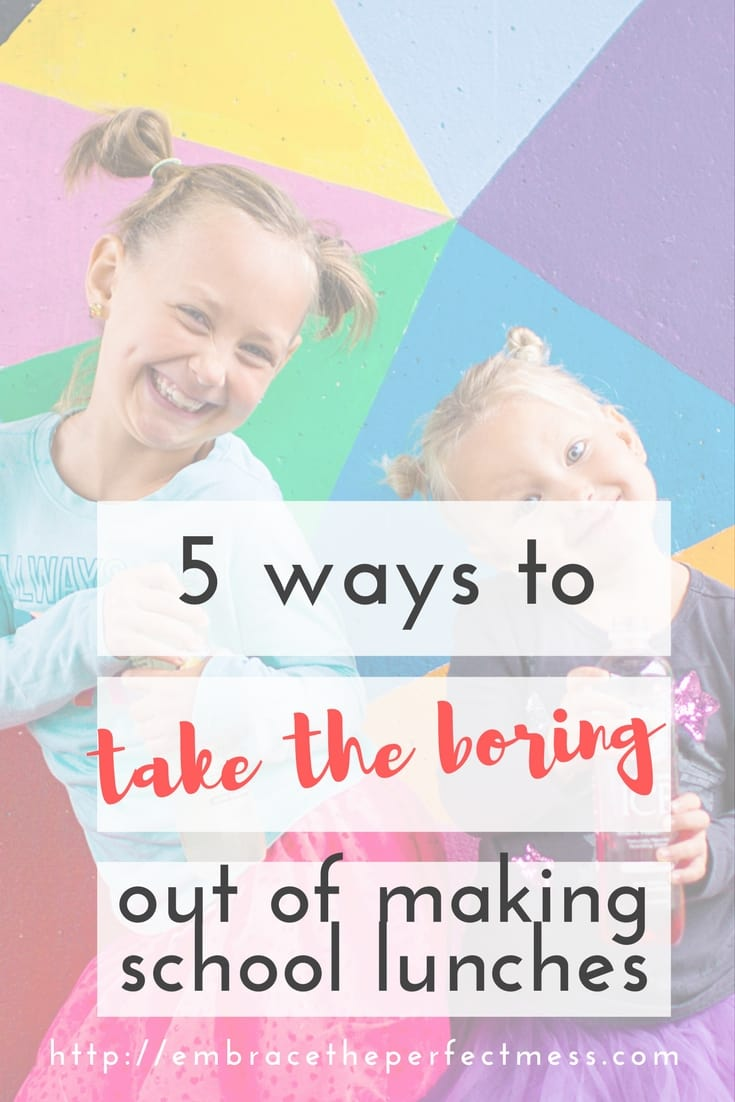 Making school lunch can be super boring for the person making it, and the one eating it! I love these ways to make school lunch fun