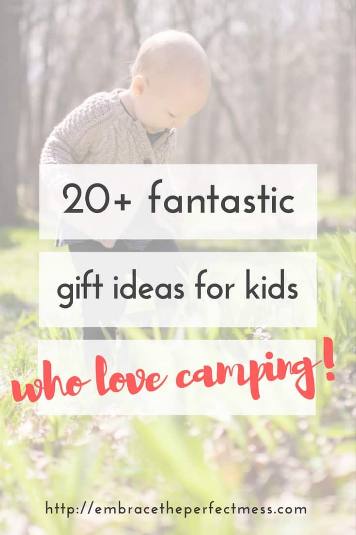 These are really great camp gift ideas for kids. Any family who loves to camp will love these ideas when it comes times to give a gift! #campgiftsforkids #campinggear #familycamping #campingtips #outdoorgiftsofrkids