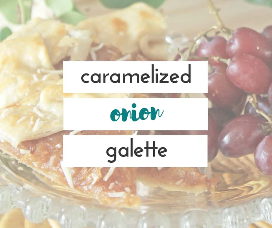 With the rich flavors of caramelized onions and parmesan cheese, this caramelized onion galette is the perfect easy appetizer for busy holiday celebrations!
