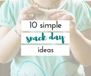 Finding easy snack ideas for snack day isn't always easy. These snacks will be easy to grab and take the worry out of how you will get everything done!